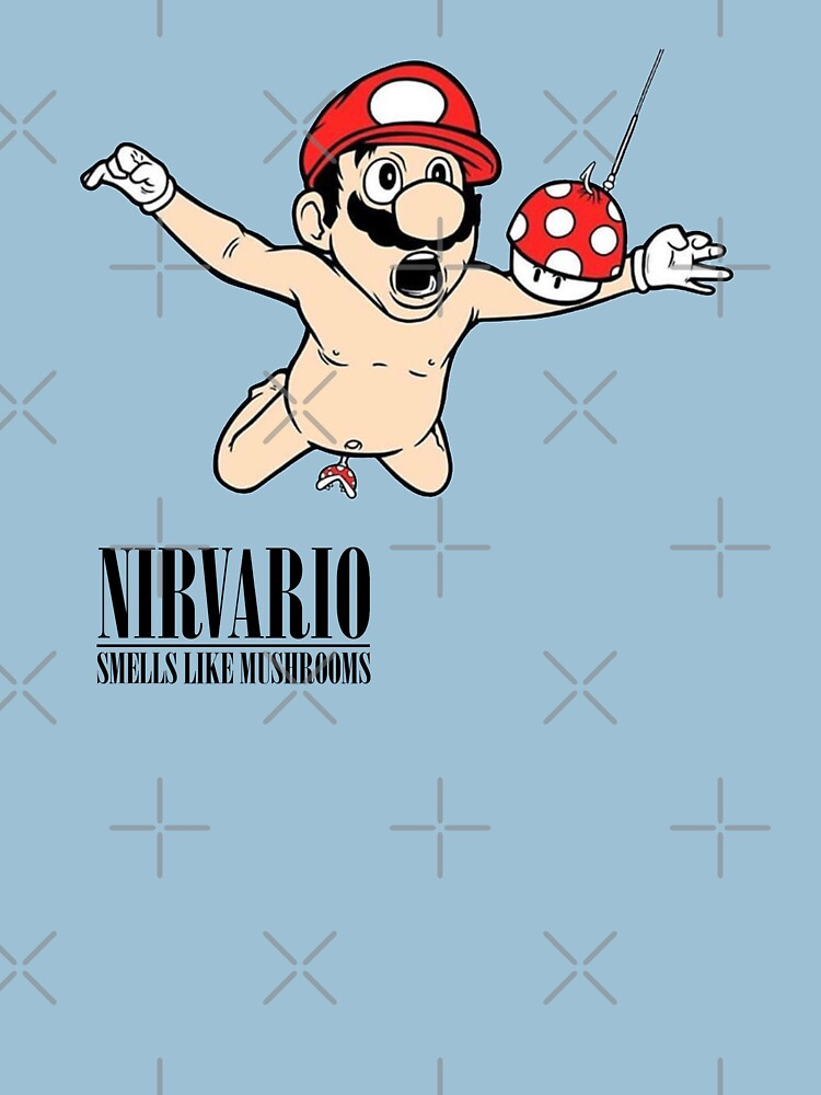 Nirvario-Cartoon (Nirvana x Mario) von Etchedclothing