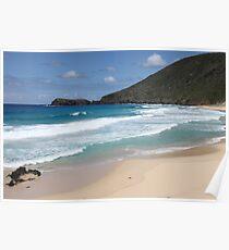 Classic Beach Scene Poster