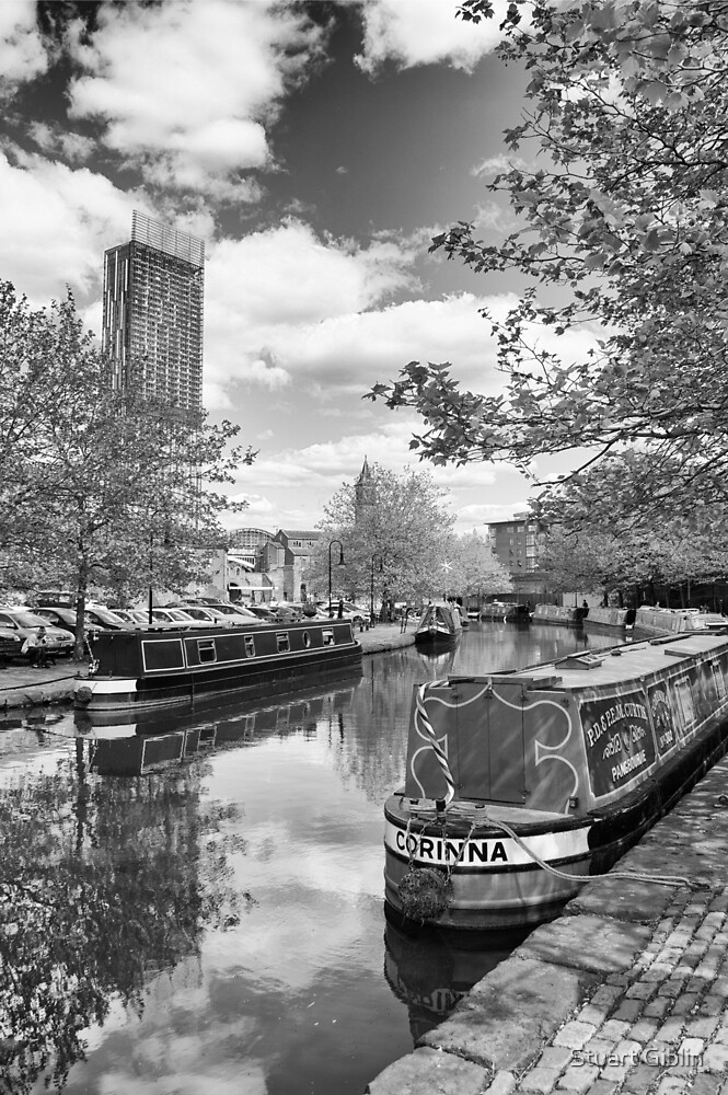 Castlefield Waterways of Manchester and Beetham Tower by Stuart Giblin