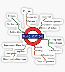Panic Station Underground Map Sticker