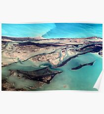 Aerial View of Turks and Caicos Islands and Atlantic Ocean Poster