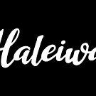 Haleiwa White Script Lettering by northshoresign