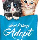 Adopt cats by Maria Tiqwah by Maria Tiqwah