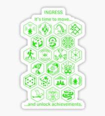 IngressGreenAchievements Sticker