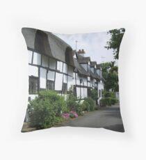 Tavern Lane, Shottery Throw Pillow