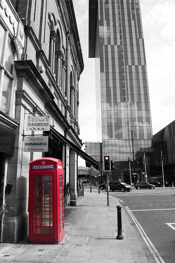 Red Telephone Box and Beetham Tower by Stuart Giblin
