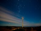 Cape Bridgwater Wind Farm Star Trail by Murray Wills