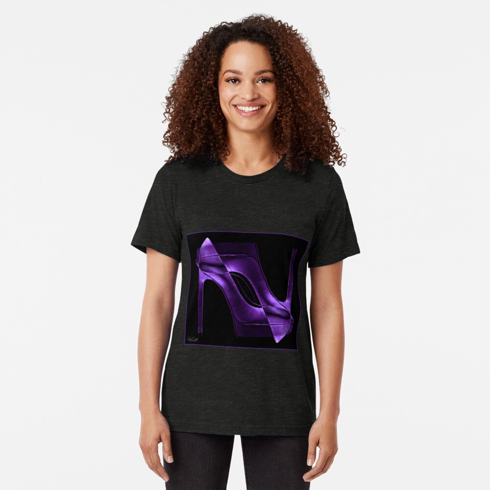 Heel 2 Toe and Purple, too. Tri-blend T-Shirt