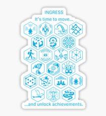 IngressBlueAchievements Sticker