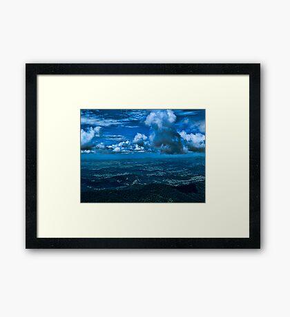 Storm Across the Border Framed Print