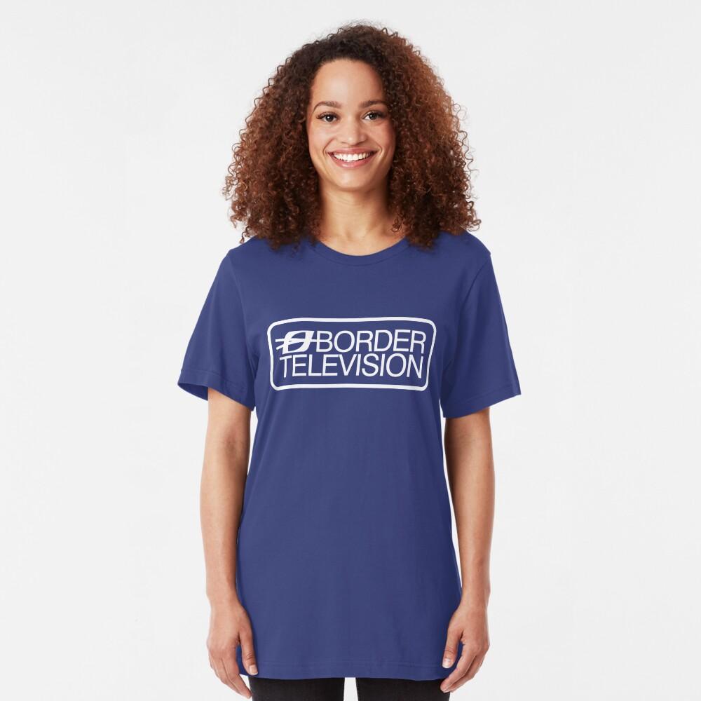 Retro ITV region Border television logo  Slim Fit T-Shirt
