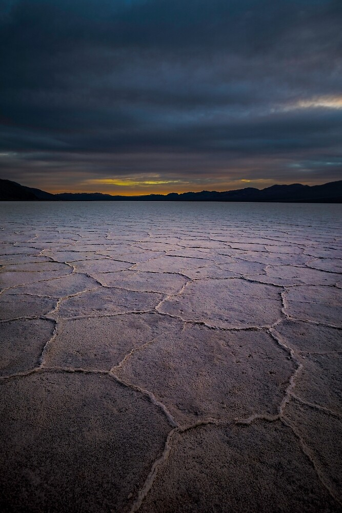 Death Valley Badwater Sunset Winter 2019 Vertical by photosbyflood
