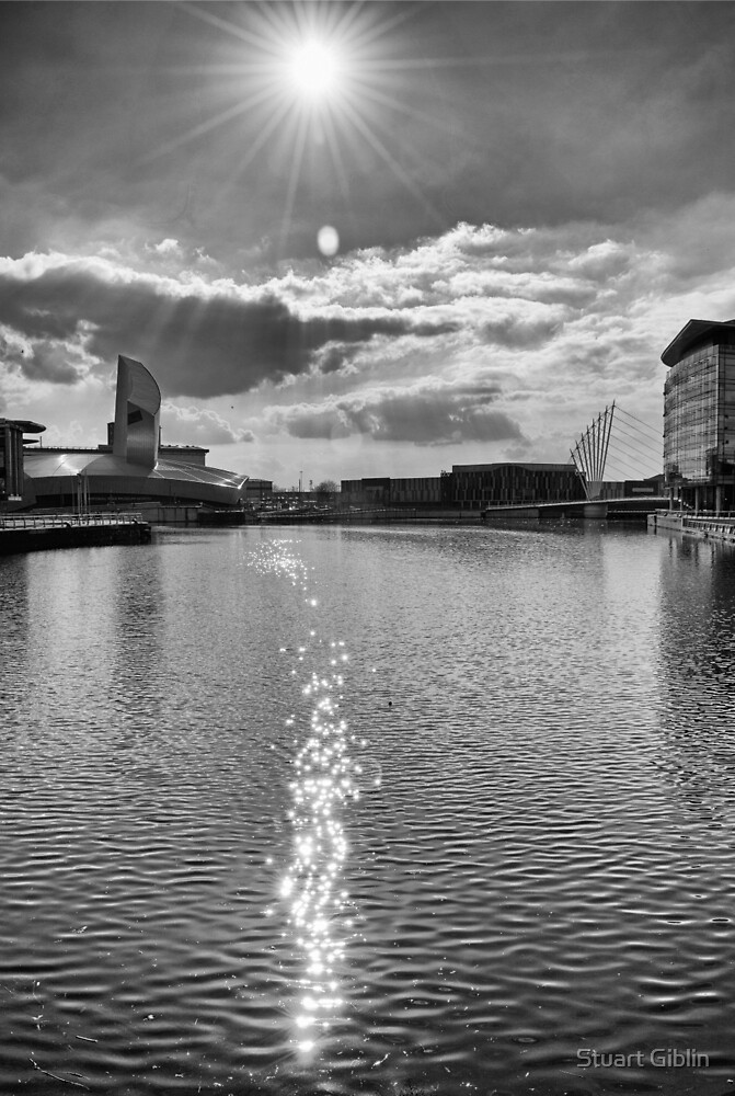 Sun Flare over The Quays by Stuart Giblin