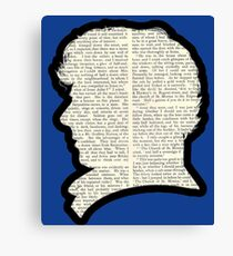 Sherlock Holmes - Benedict Cumberbatch silhouette Canvas Print