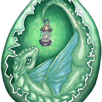 Green Star Dragon, Baby Dragon by NicholiCosplay