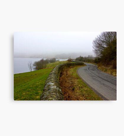 Mist around the Reservior Canvas Print