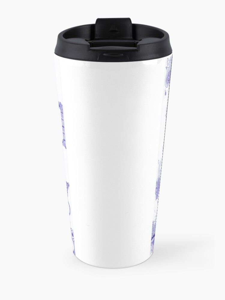 Alternate view of Merch #13 -- The Molten-Mechanical Clash. Travel Mug