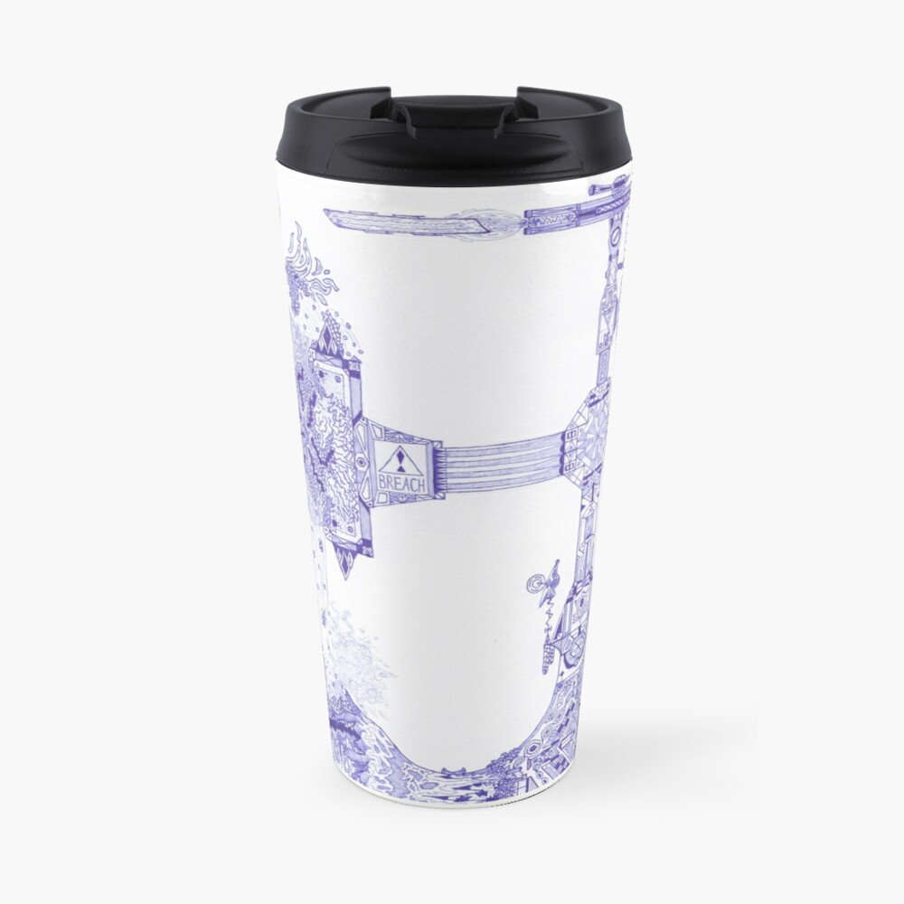 Merch #13 -- The Molten-Mechanical Clash. Travel Mug