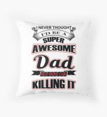 Awesome dad, dad, dad, dad Floor Pillow