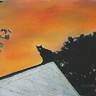 Spooky Cat by Lorelle Gromus