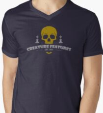 Creature Features Skull V-Neck T-Shirt