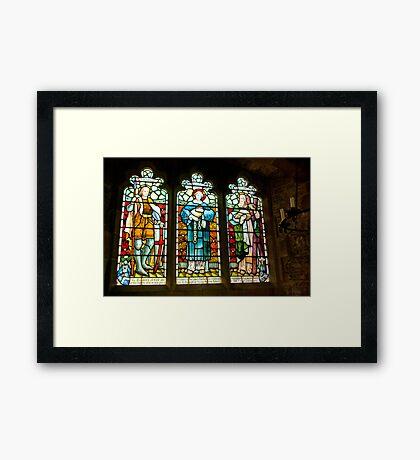 Hubberholme Church Window #2 Framed Print