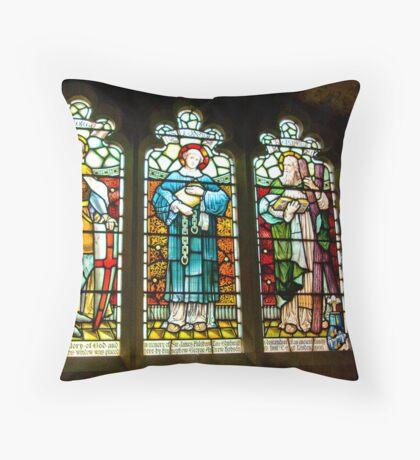 Hubberholme Church Window #2 Throw Pillow