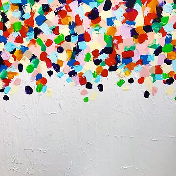Bright and Colourful Rainbow Abstract Painting  by AlexandraStr
