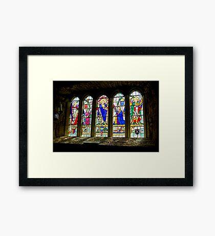 Hubberholme Church Window #3 Framed Print