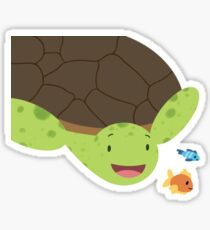 Turtle and Fish Friends Sticker