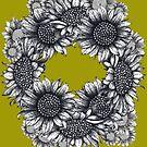 Beautiful Sunflower Circle by Lukasz  Czyzewski