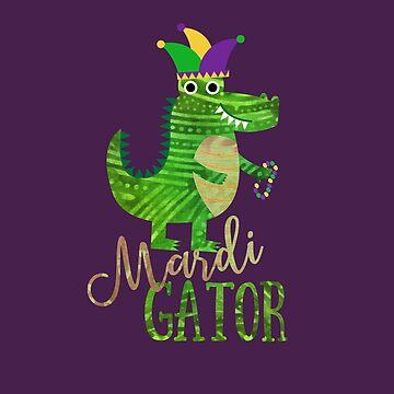 Mardi Gras Gator  by 4Craig