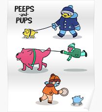 Peeps and Pups Poster