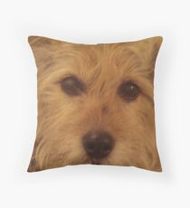 Tina The Terror Terrier! Throw Pillow