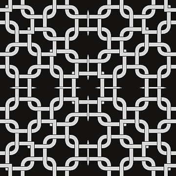 Interlock Black and White Patterns V2019-2 by webgrrl