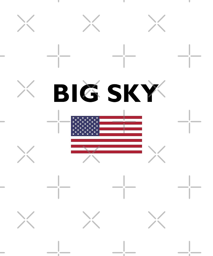 Big Sky USA American Flag Light-Color by TinyStarAmerica