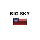 Big Sky USA American Flag Light-Color by TinyStarAmerica