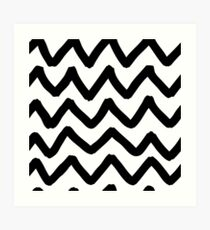 Abstract background with zigzag brush strokes Art Print