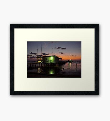 Dawn on Caye Caulker Framed Print