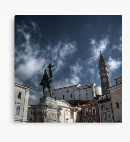 Local Hero - Piran, Slovenia Canvas Print