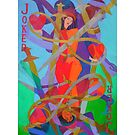 The Jokes on Our Hearts giclee with border by Denise Weaver Ross