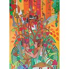 The Ten Strings of My Heart giclee with border by Denise Weaver Ross