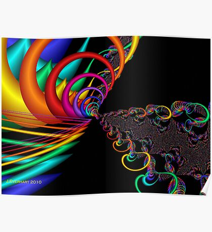 The Great Rainbow Fractal Poster