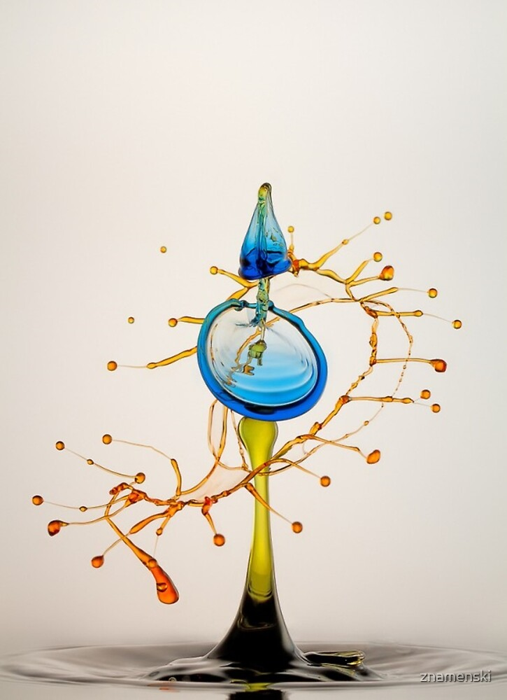 #water #liquid #drop #art illustration abstract wine space astronomy yellow color image by znamenski