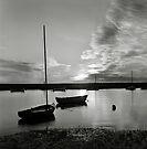 Sunset at Burnham Overy Staithe, Norfolk, UK by Richard Flint