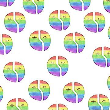 Hedwig's Origin Of Love - Pride  by xmisscriss