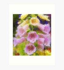 Cowbell Flowers - Cambria, CA Art Print