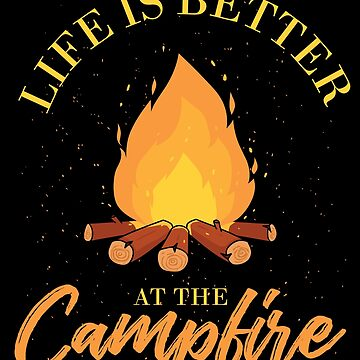 Camping fire by GeschenkIdee