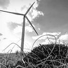 Power up - wind turbine by Ken Humphreys