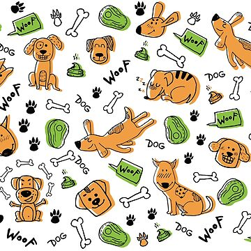 Sweet and funny dogs pattern by PM-TShirts